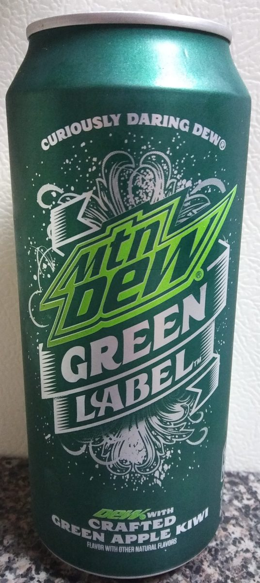 drink reaction mountain dew green label the rad blog